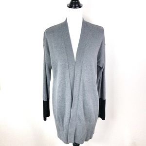 Chico's 1 Open Front Cardigan Duster Sweater